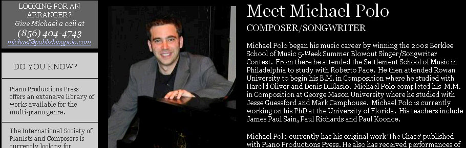 Michael Polo, composer